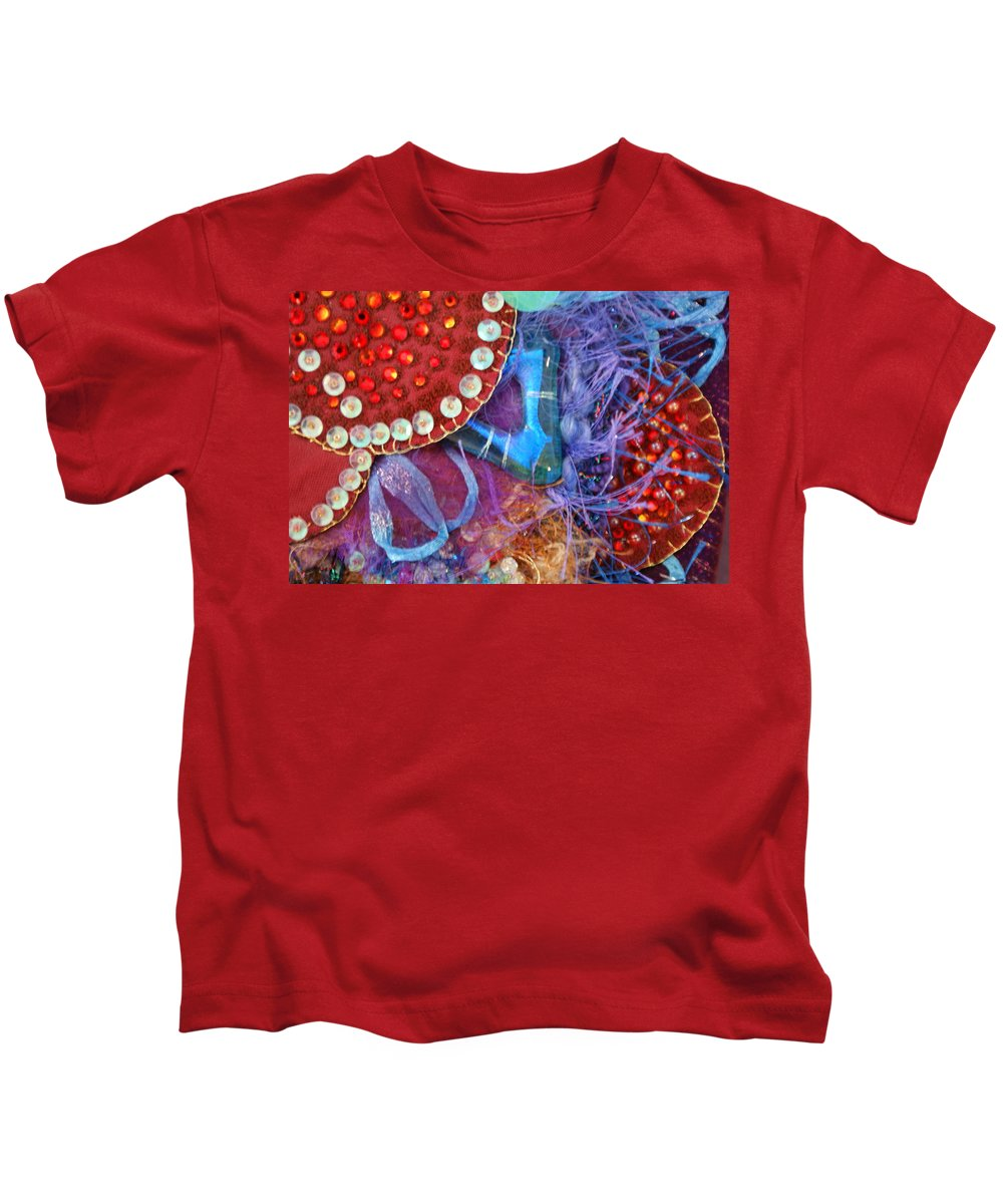 Kids T-Shirt featuring the mixed media Ruby Slippers 7 by Judy Henninger