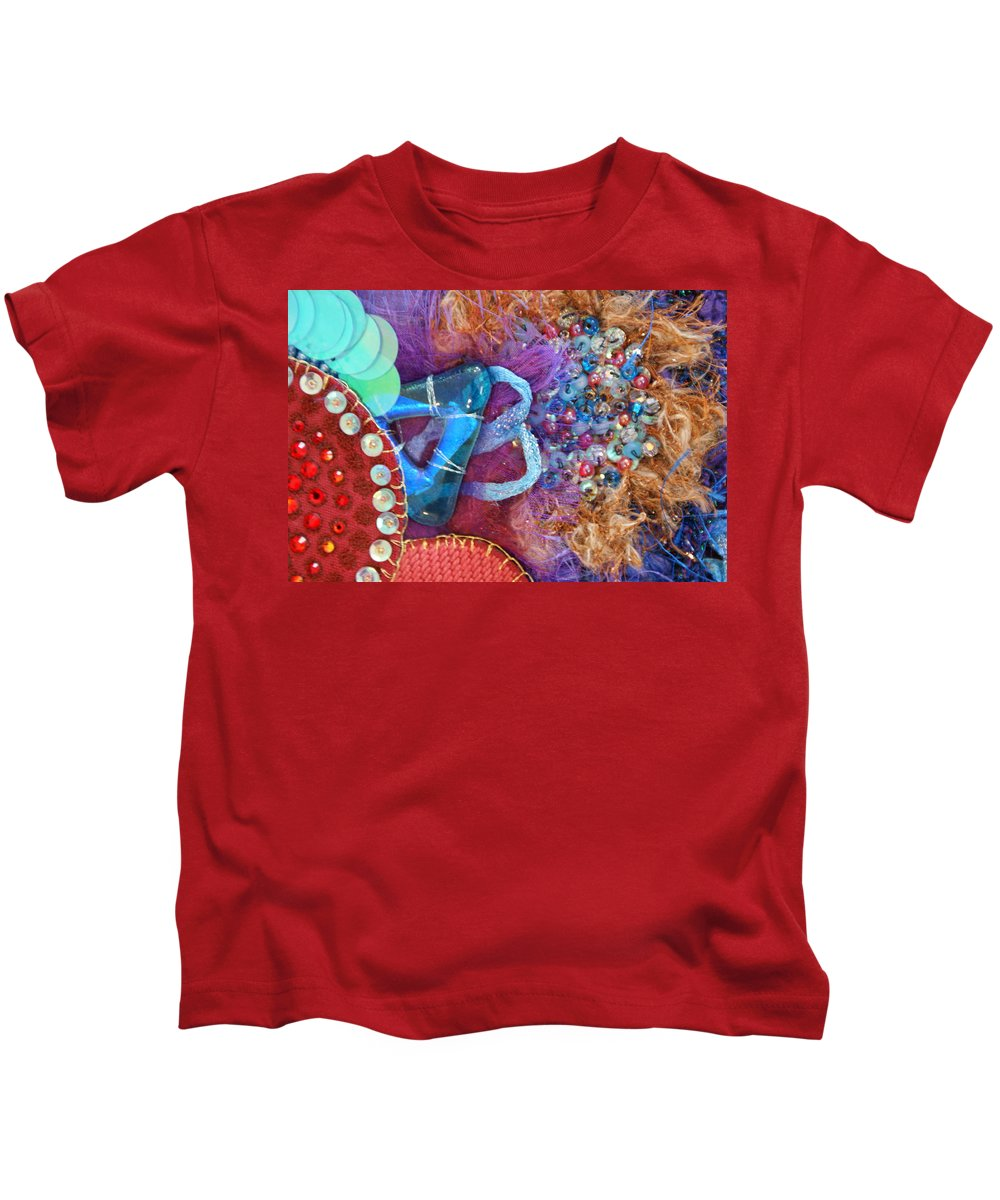 Kids T-Shirt featuring the mixed media Ruby Slippers 8 by Judy Henninger