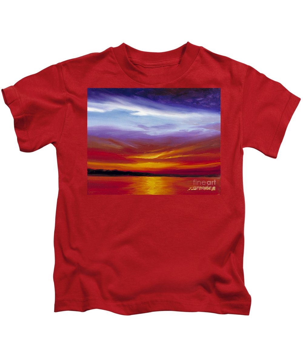 Skyscape Kids T-Shirt featuring the painting Sarasota Bay I by James Christopher Hill