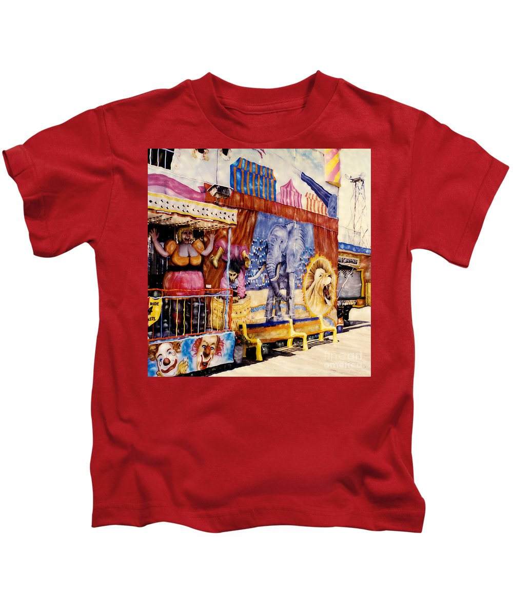 Boardwalk Kids T-Shirt featuring the photograph Seaside New Jersey by Keith Dillon