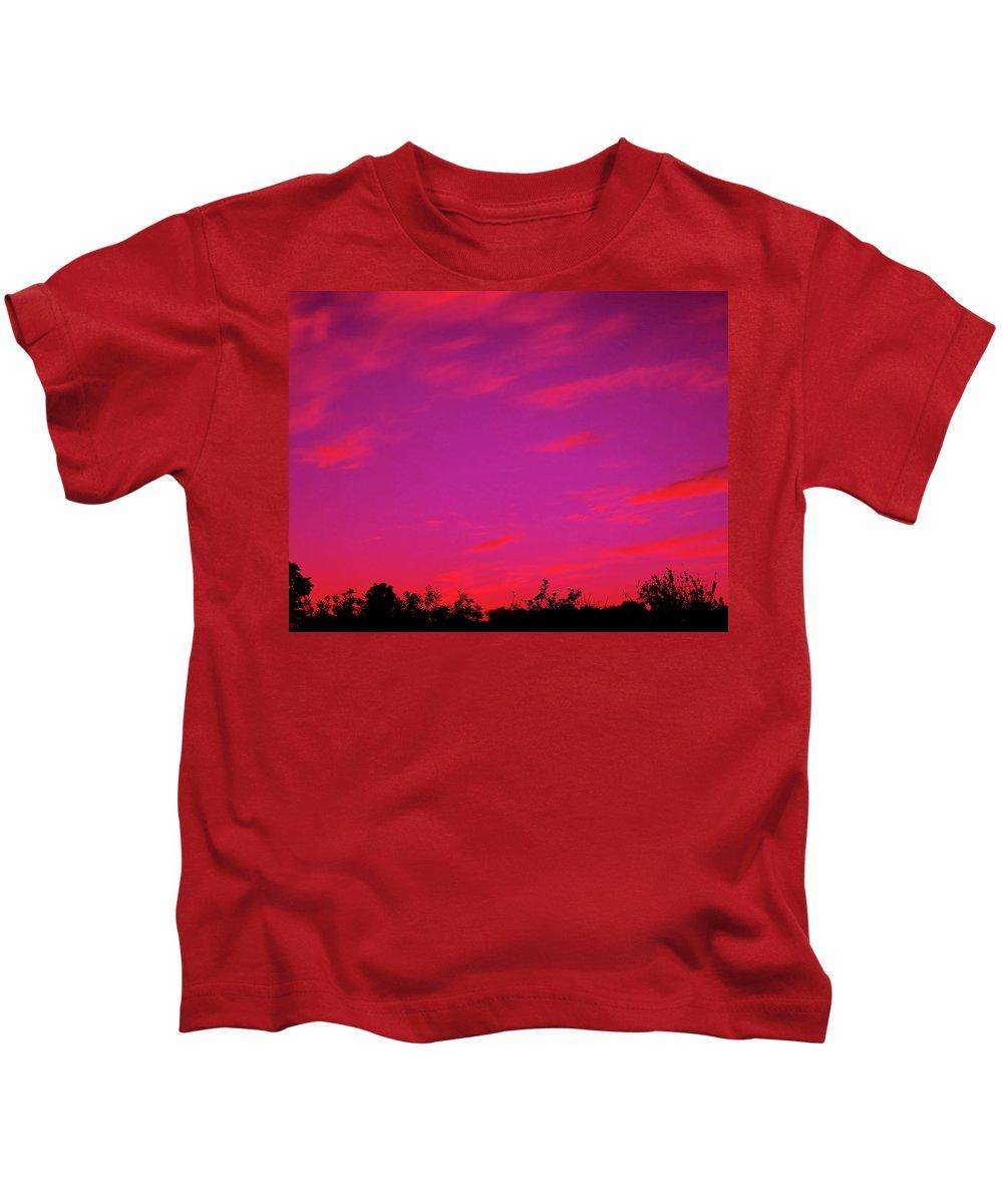 Sunrise Kids T-Shirt featuring the photograph Serene Sunrise by Mark Blauhoefer