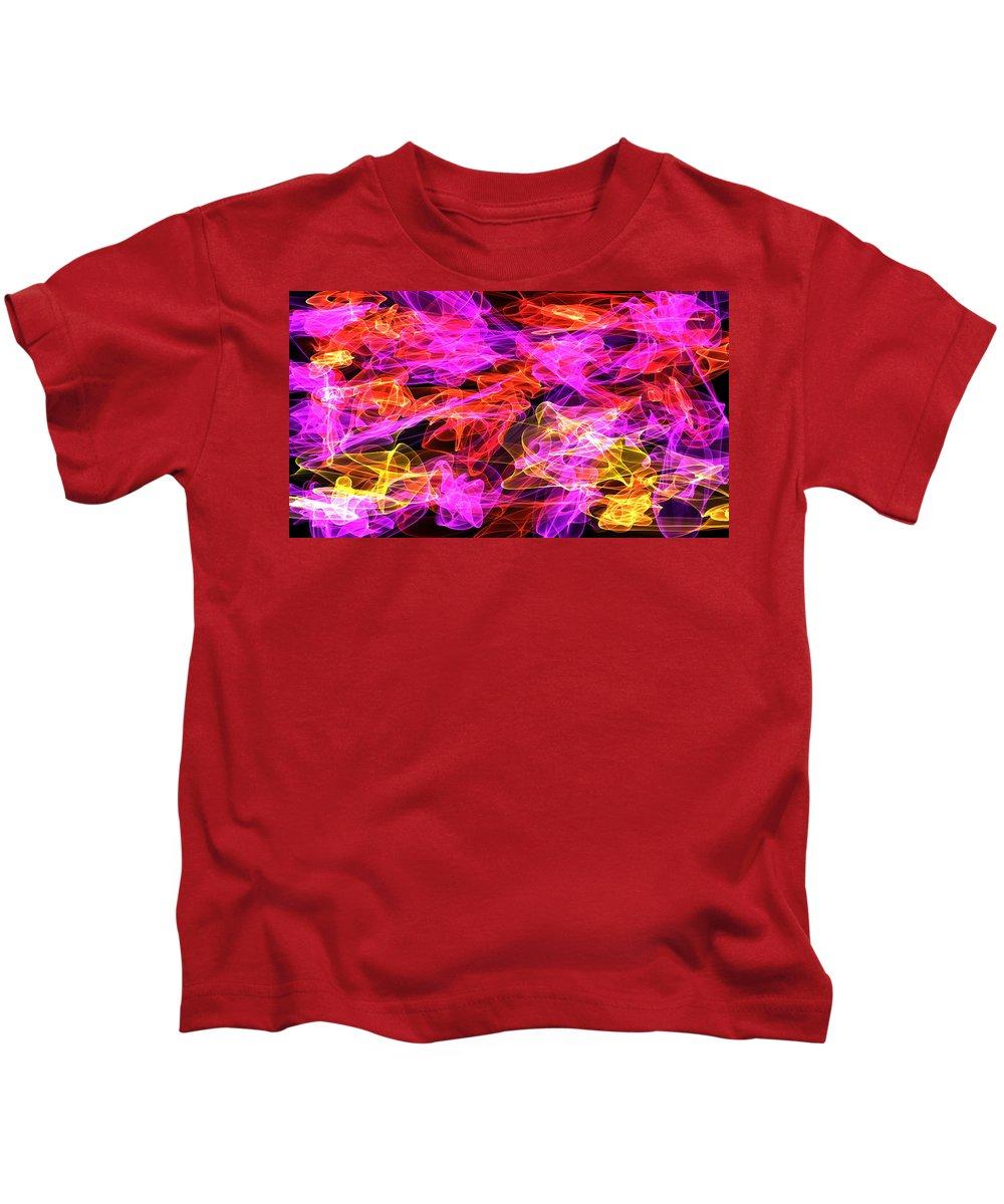 Swirls Kids T-Shirt featuring the digital art Shaken Not Stirred by Shirlena Rudder