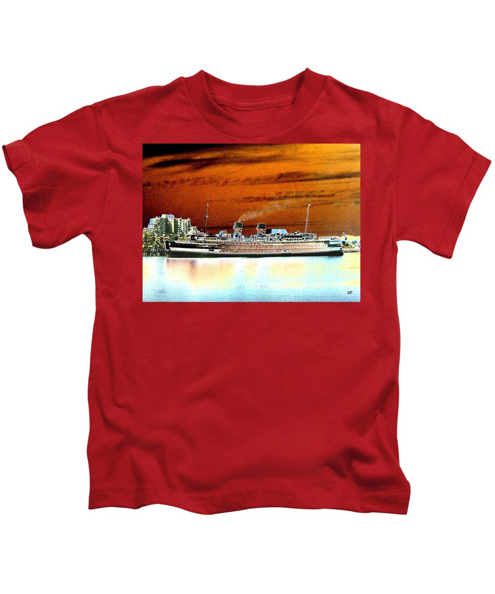 Ship Kids T-Shirt featuring the digital art Shipshape 2 by Will Borden