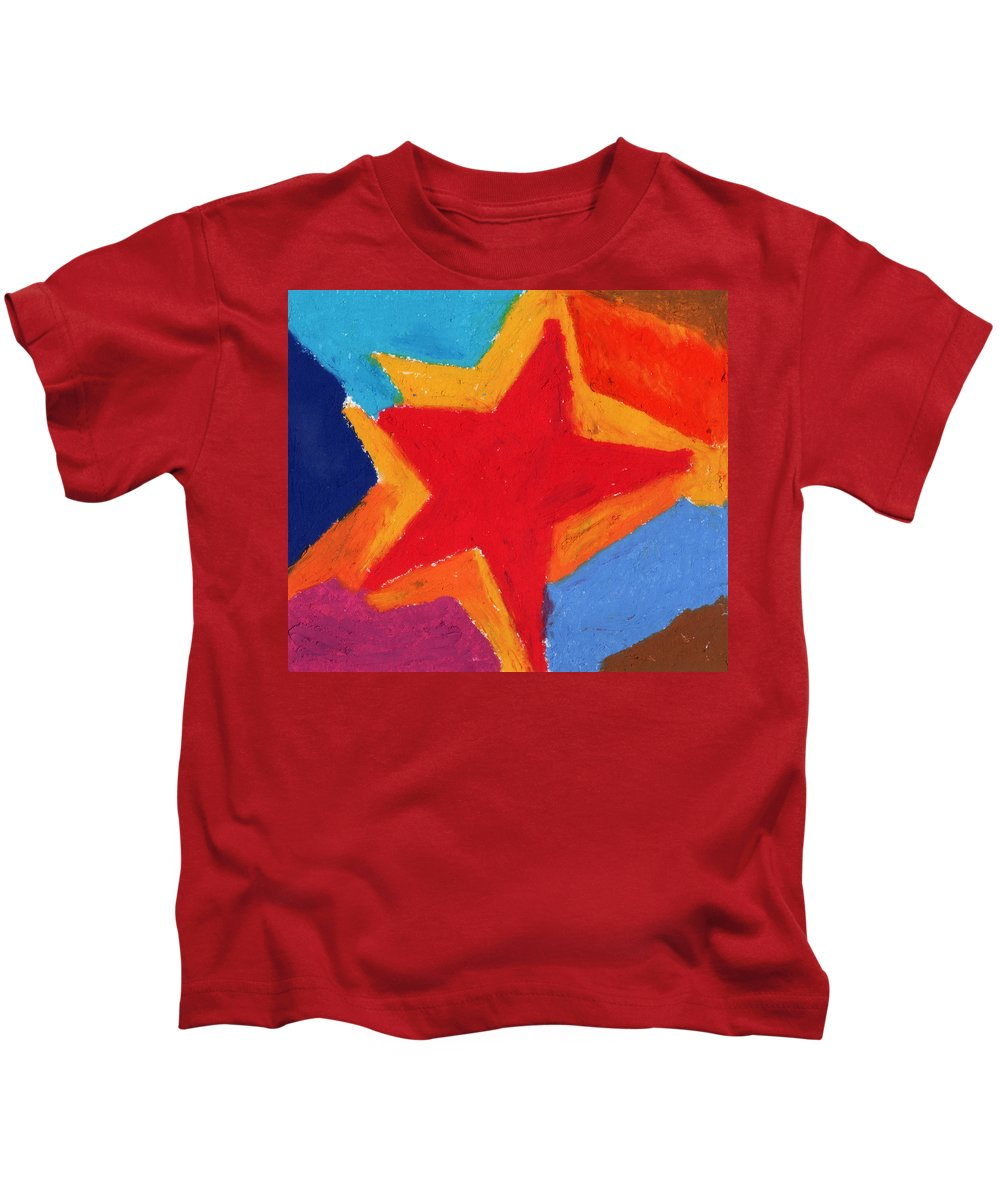 Star Kids T-Shirt featuring the painting Simple Star-straight Edge by Stephen Anderson