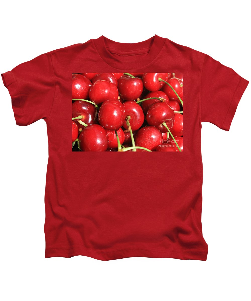 Cherries Kids T-Shirt featuring the photograph Simply Cherries by Carol Groenen