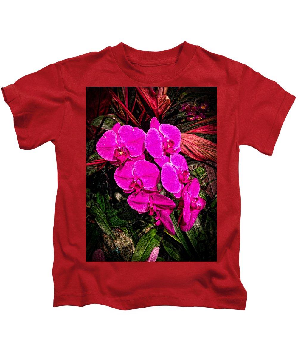 Nature Kids T-Shirt featuring the photograph Six Flowers by Ronald Watkins