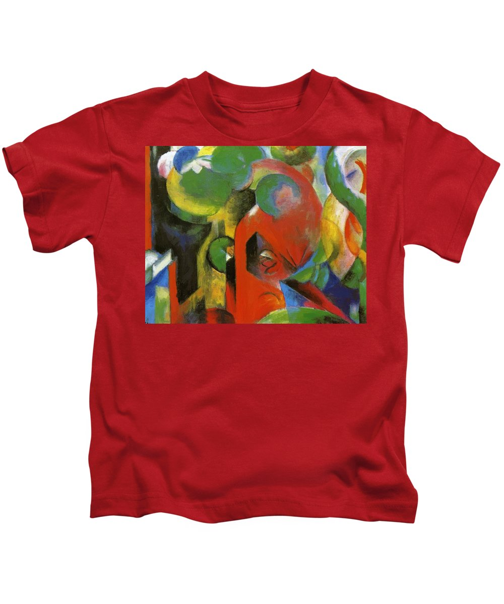 Small Kids T-Shirt featuring the painting Small Composition IIi by Marc Franz