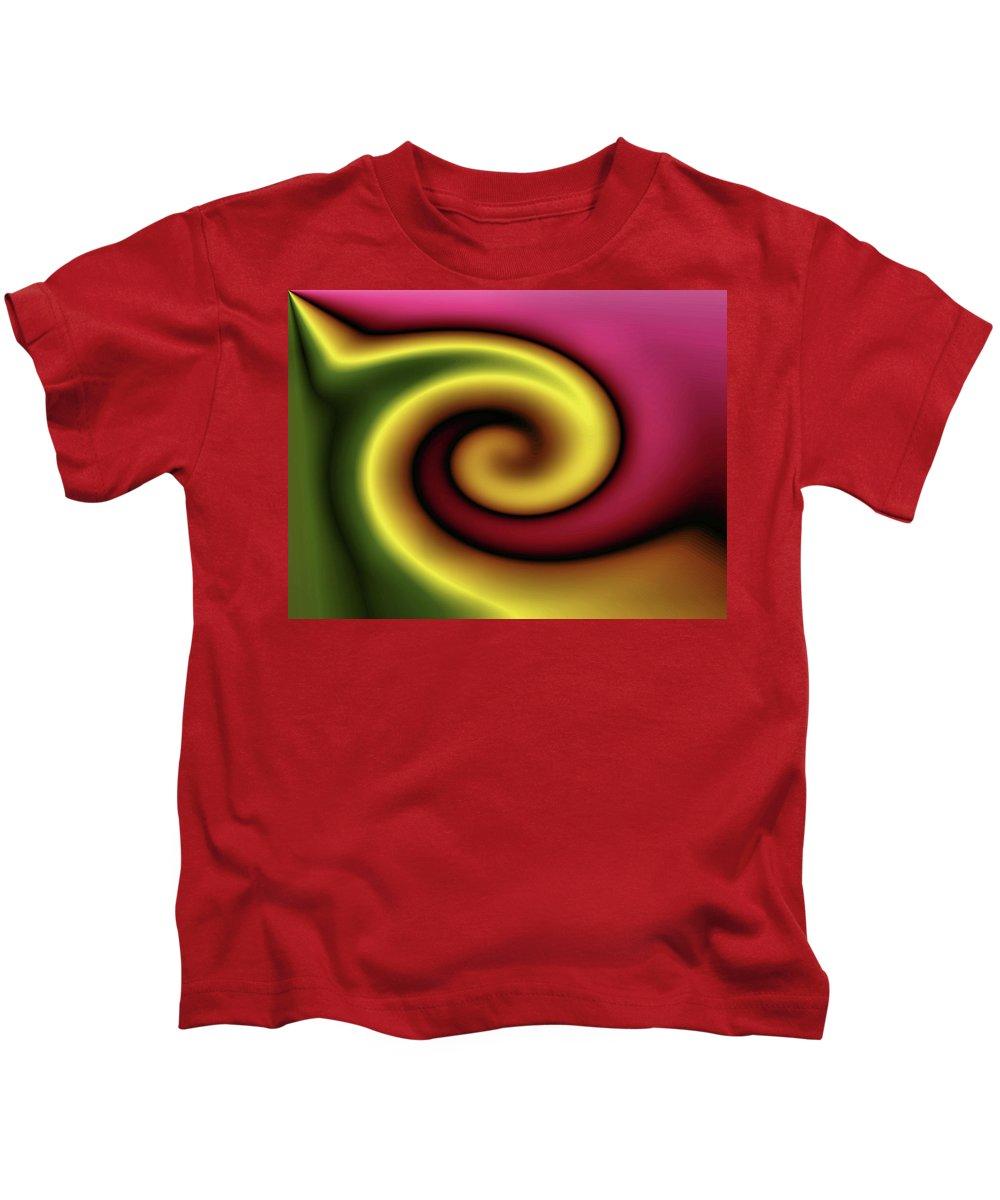 Colorful Kids T-Shirt featuring the digital art Snail by Kristin Elmquist