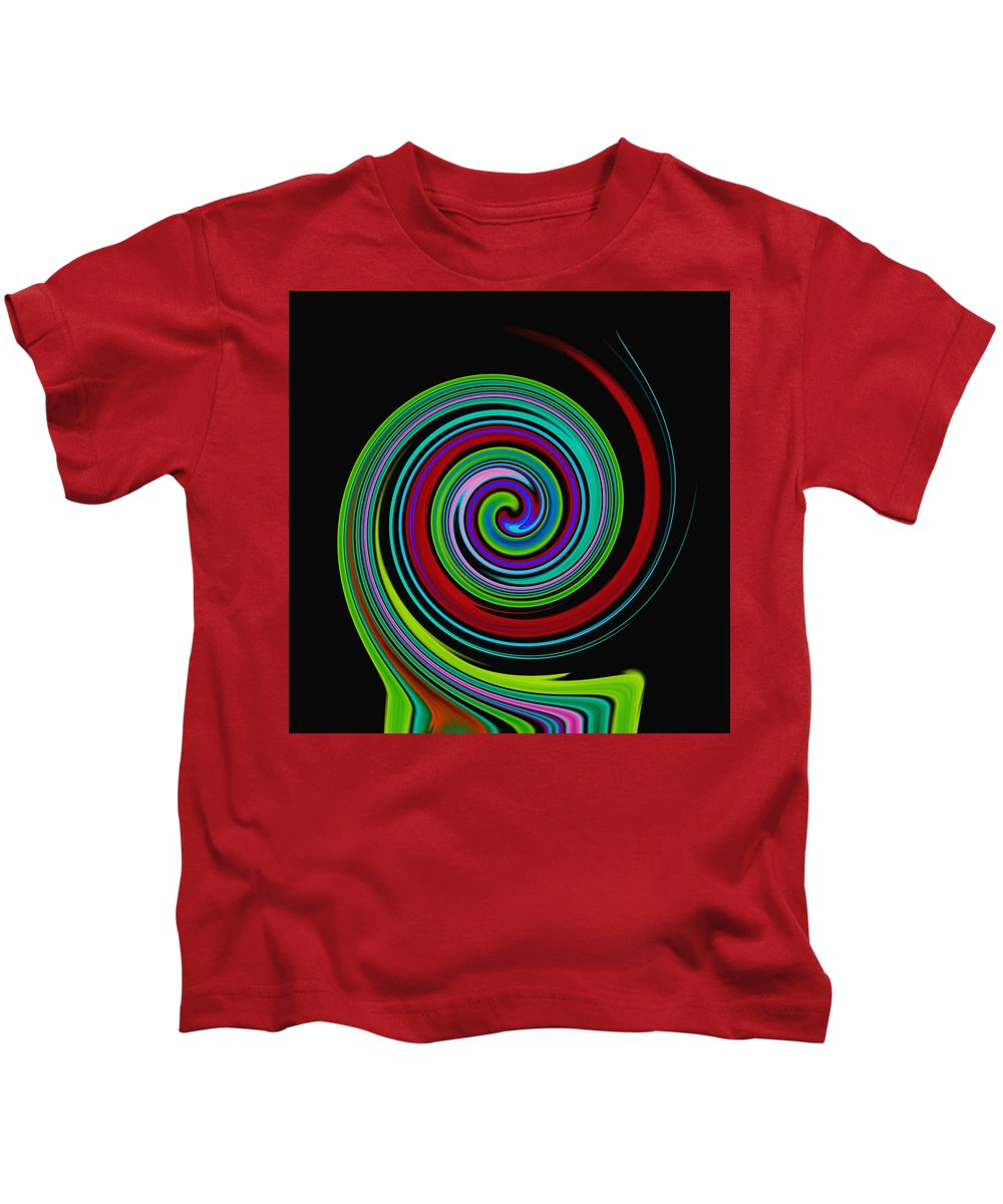 Colorful Kids T-Shirt featuring the digital art Solar Scroll by Lorna Hooper