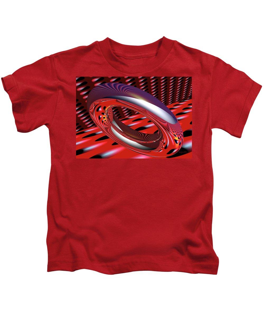 Ring Kids T-Shirt featuring the digital art Space Trilogy by Robert Orinski