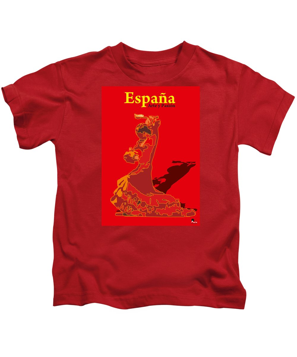Spanish Kids T-Shirt featuring the digital art Spain Reed by Joaquin Abella