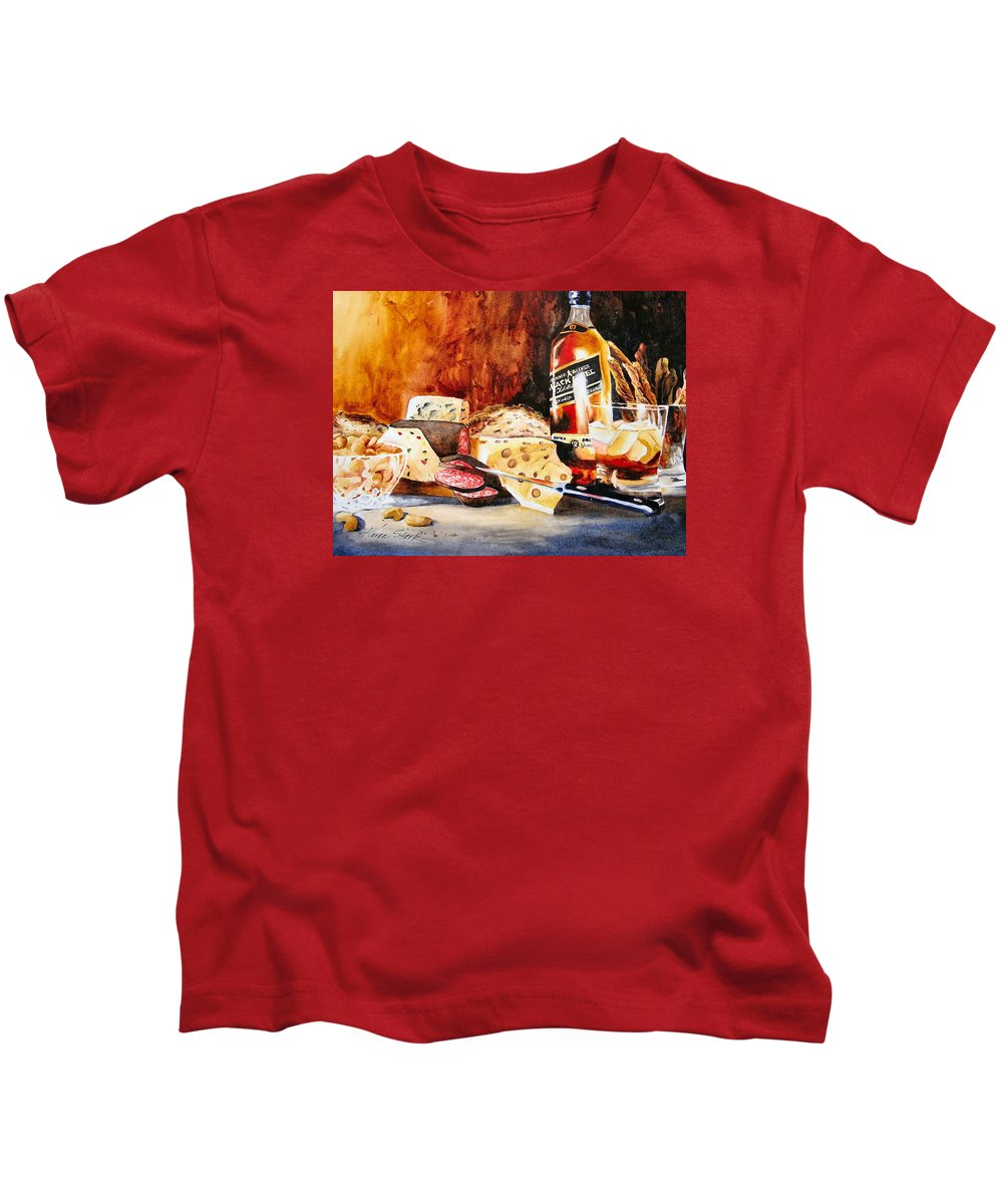 Scotch Kids T-Shirt featuring the painting Spirited Indulgences by Karen Stark