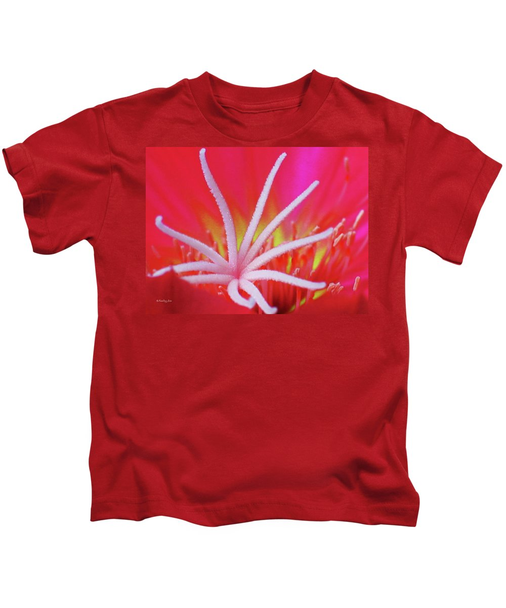 Echinocereus Kids T-Shirt featuring the photograph Spring Blossom 19 by Xueling Zou