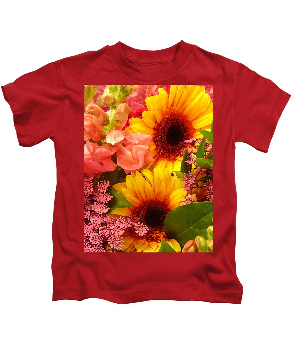 Roses Kids T-Shirt featuring the photograph Spring Bouquet 1 by Amy Vangsgard