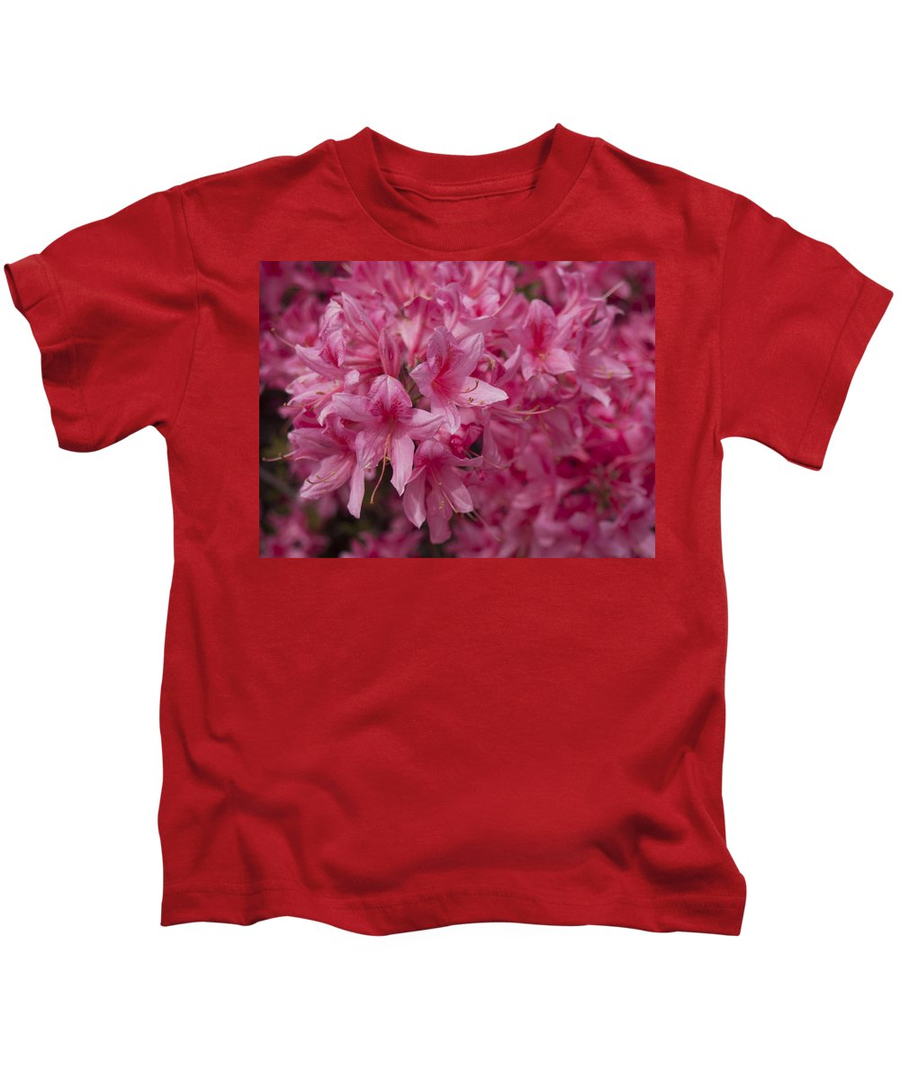 Flowers Kids T-Shirt featuring the photograph Pink by Michael Colgate