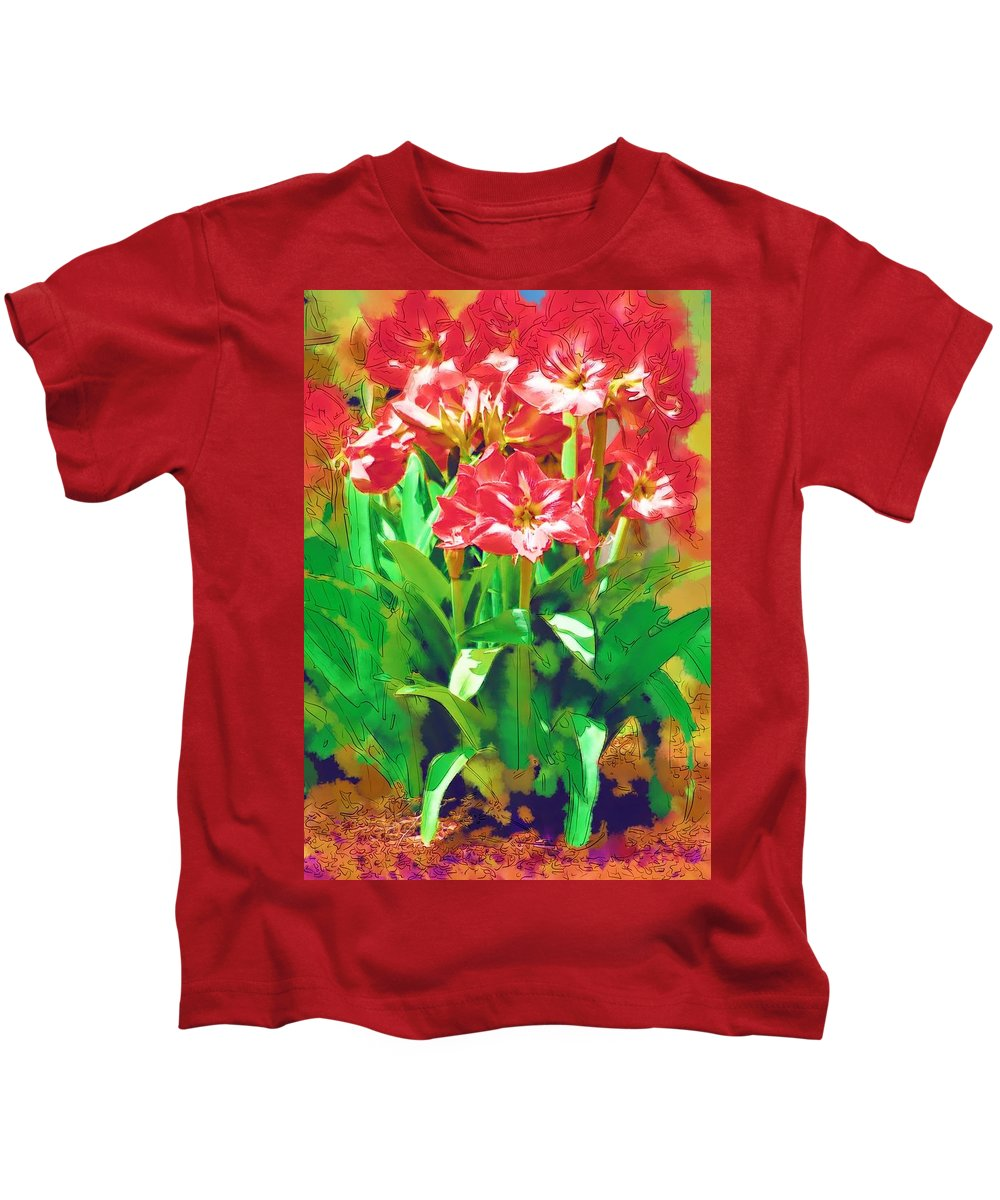 Flowers Kids T-Shirt featuring the photograph Standing At Attention by Donna Bentley