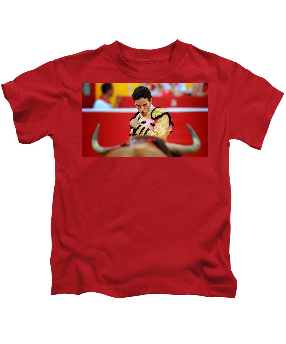 Toro Kids T-Shirt featuring the photograph Staring by Rafa Rivas
