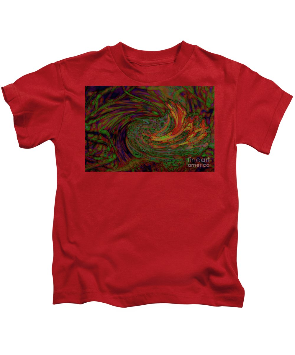 Colors Kids T-Shirt featuring the photograph Stream by Gaby Swanson