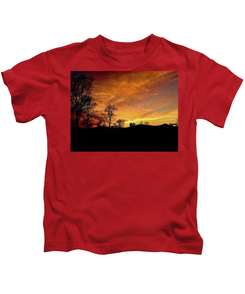 Sunset Kids T-Shirt featuring the photograph Suffused With Harmony by Elizabeth Tillar