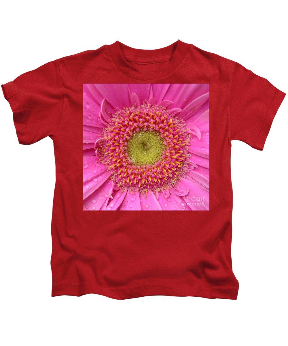 Pink Flower Kids T-Shirt featuring the photograph Summer Glory by Carol Groenen