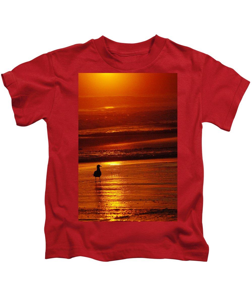 Sunset Kids T-Shirt featuring the photograph Sunset Bird 2 by Jill Reger