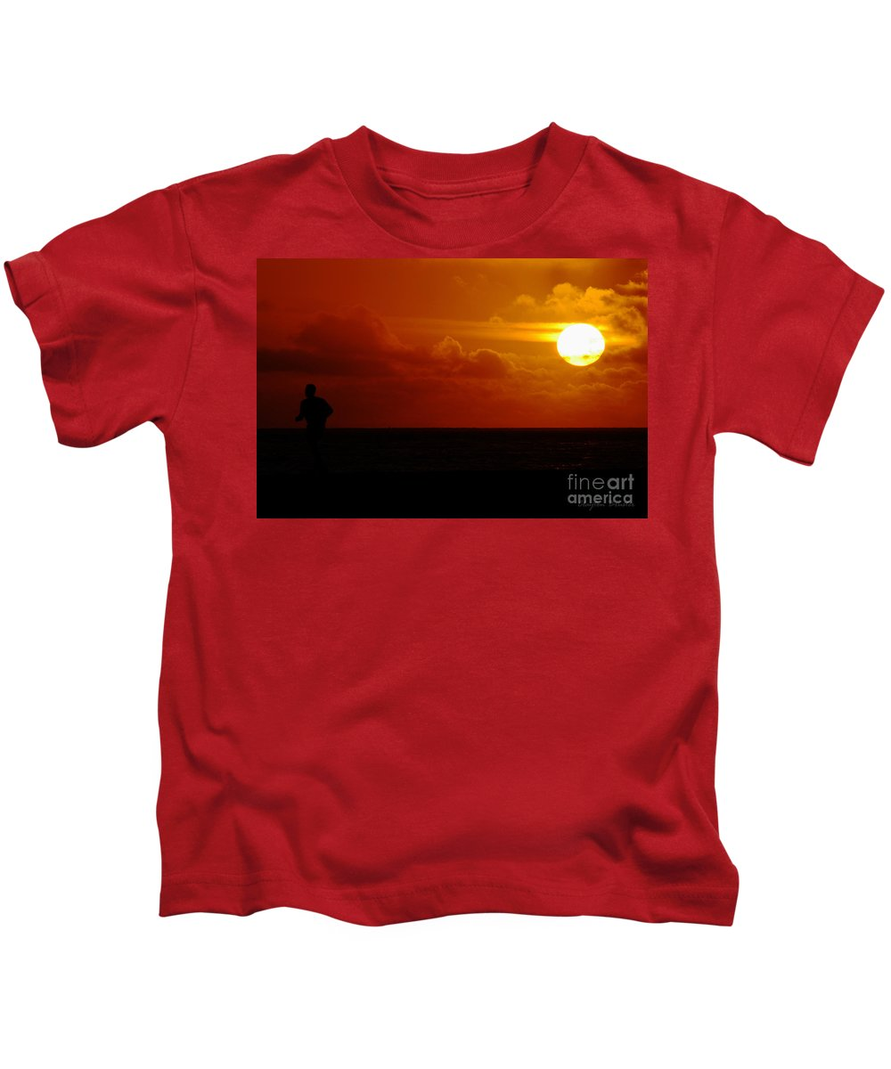 Clay Kids T-Shirt featuring the photograph Sunset Over The Pacific by Clayton Bruster
