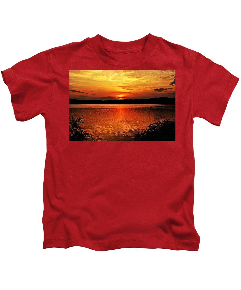 Sunrise Kids T-Shirt featuring the photograph Sunset Xxiii by Joe Faherty