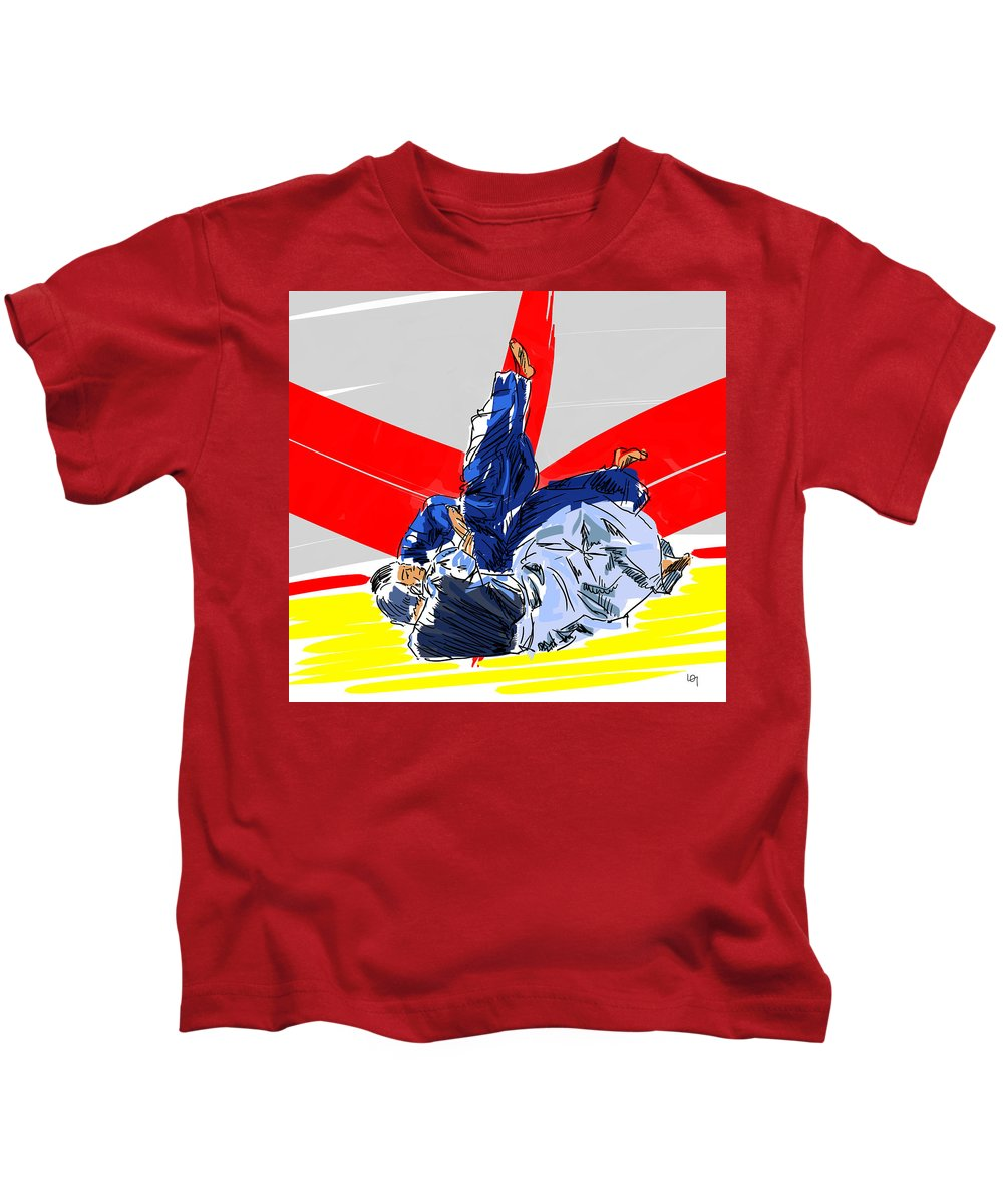 Sutemi Kids T-Shirt featuring the painting Sutemi by Lawrence O'Toole