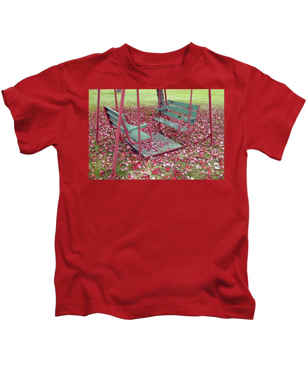 Swing Set Kids T-Shirt featuring the photograph Swing Set by David Lee Thompson
