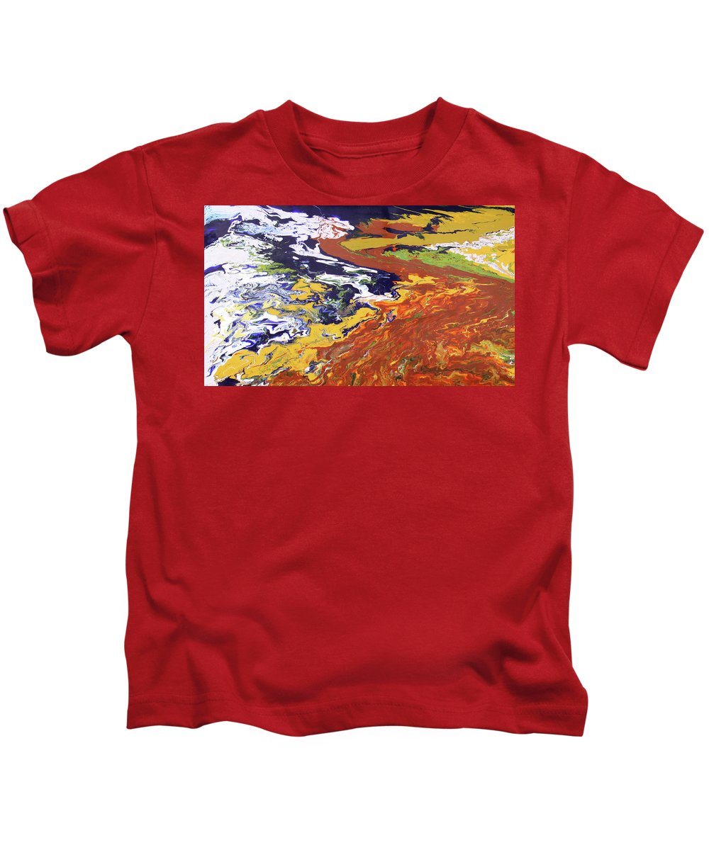 Fusionart Kids T-Shirt featuring the painting Tectonic by Ralph White