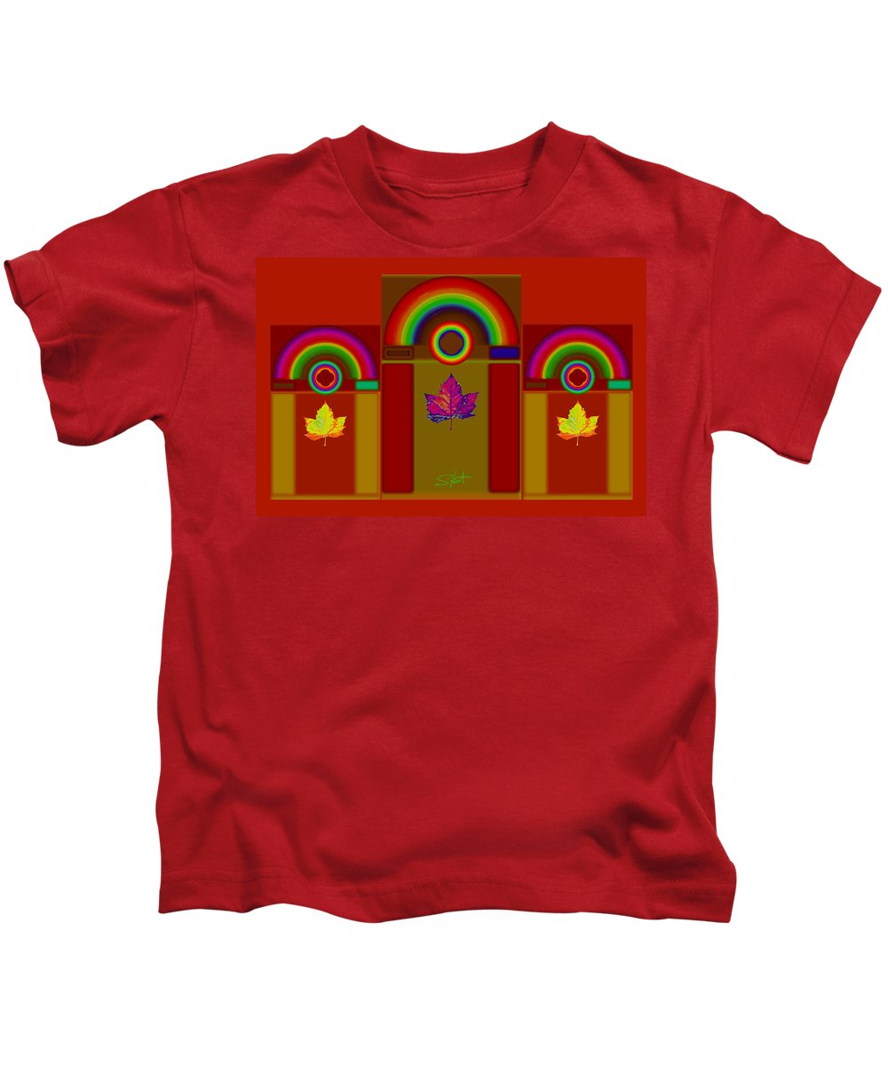 Classical Kids T-Shirt featuring the digital art Terracota Classic by Charles Stuart