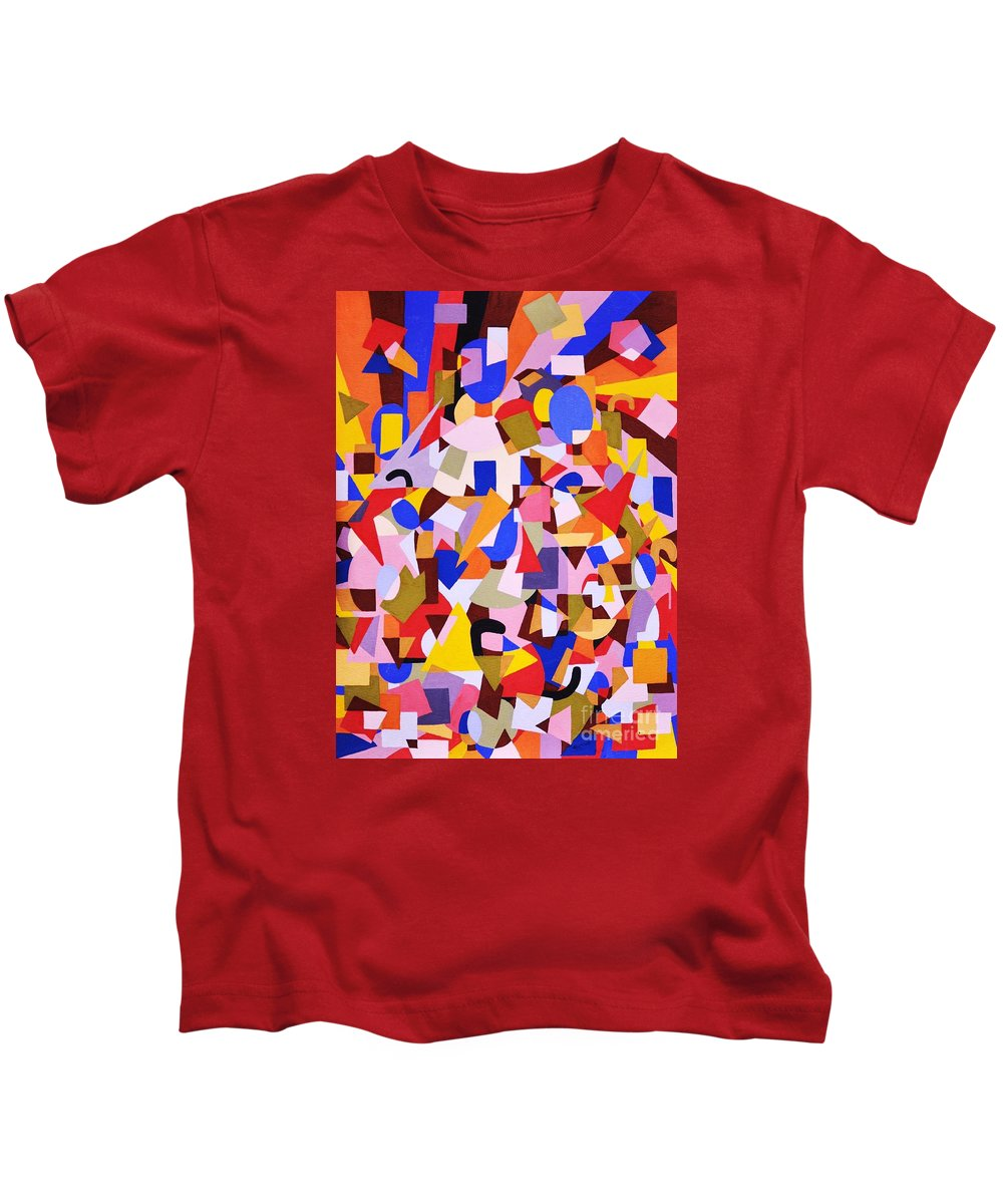 Abstract Kids T-Shirt featuring the painting The Art Of Misplacing Things by Reb Frost