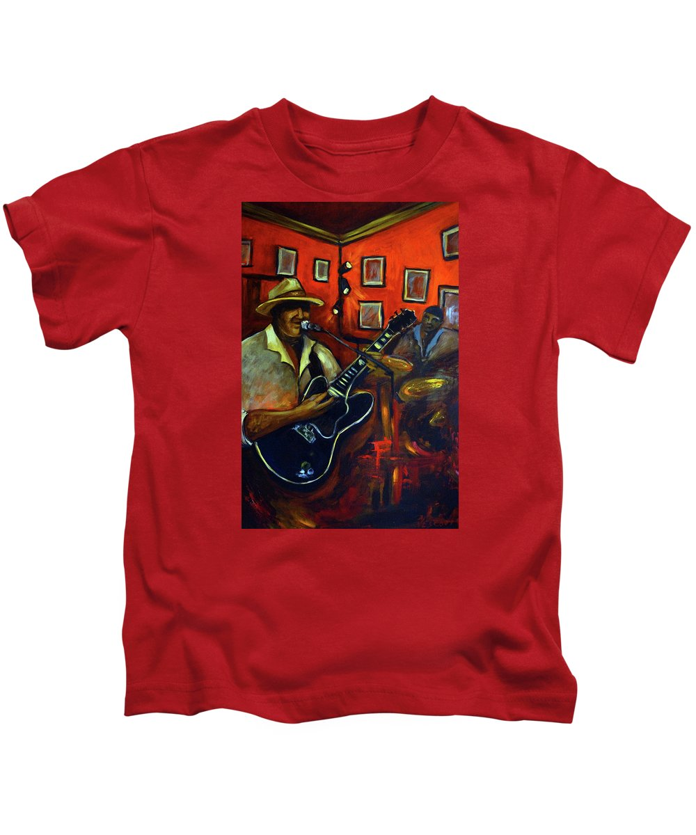Blues Kids T-Shirt featuring the painting The Back Room by Valerie Vescovi