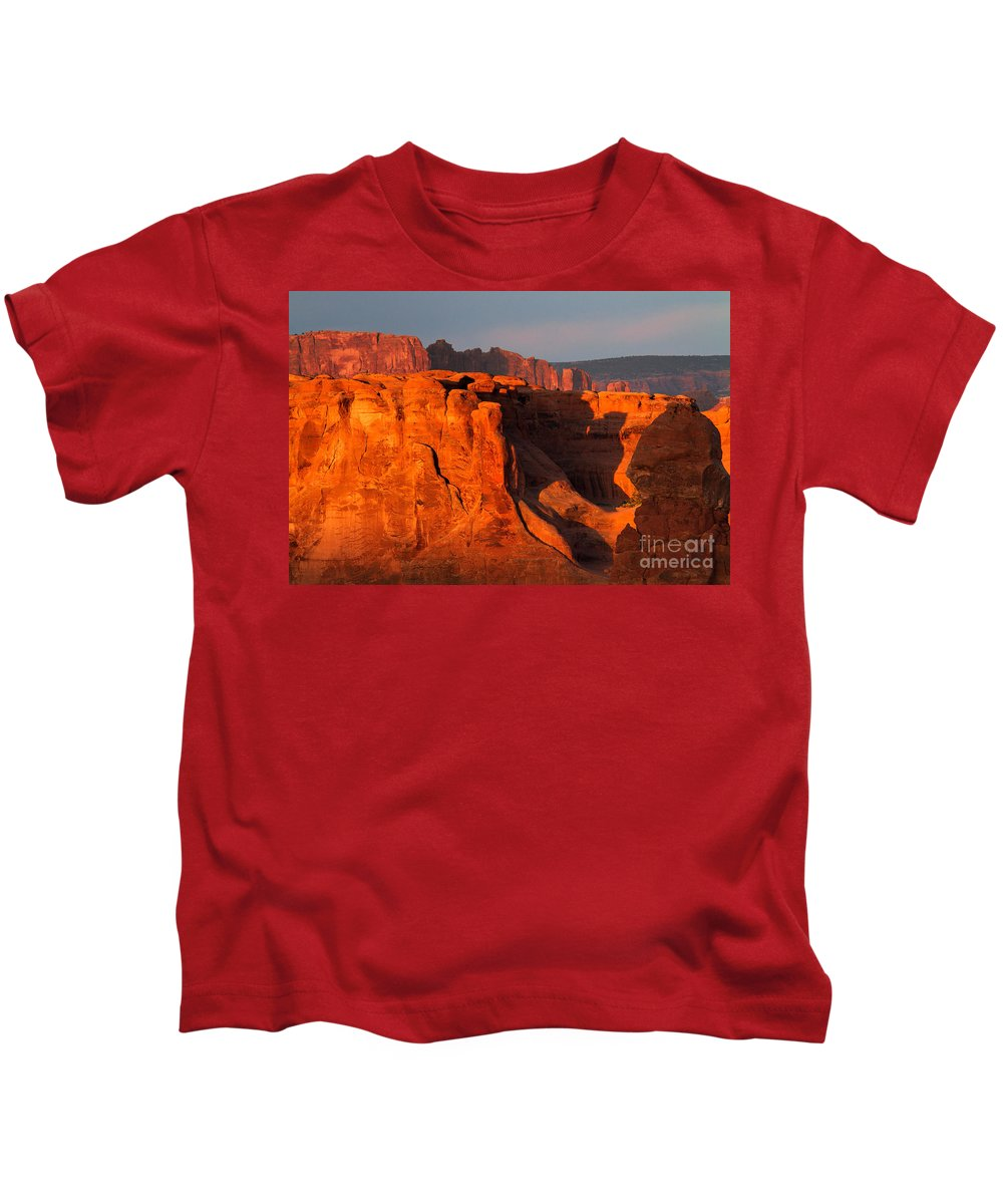 Utah Kids T-Shirt featuring the photograph The Firewall by Jim Garrison