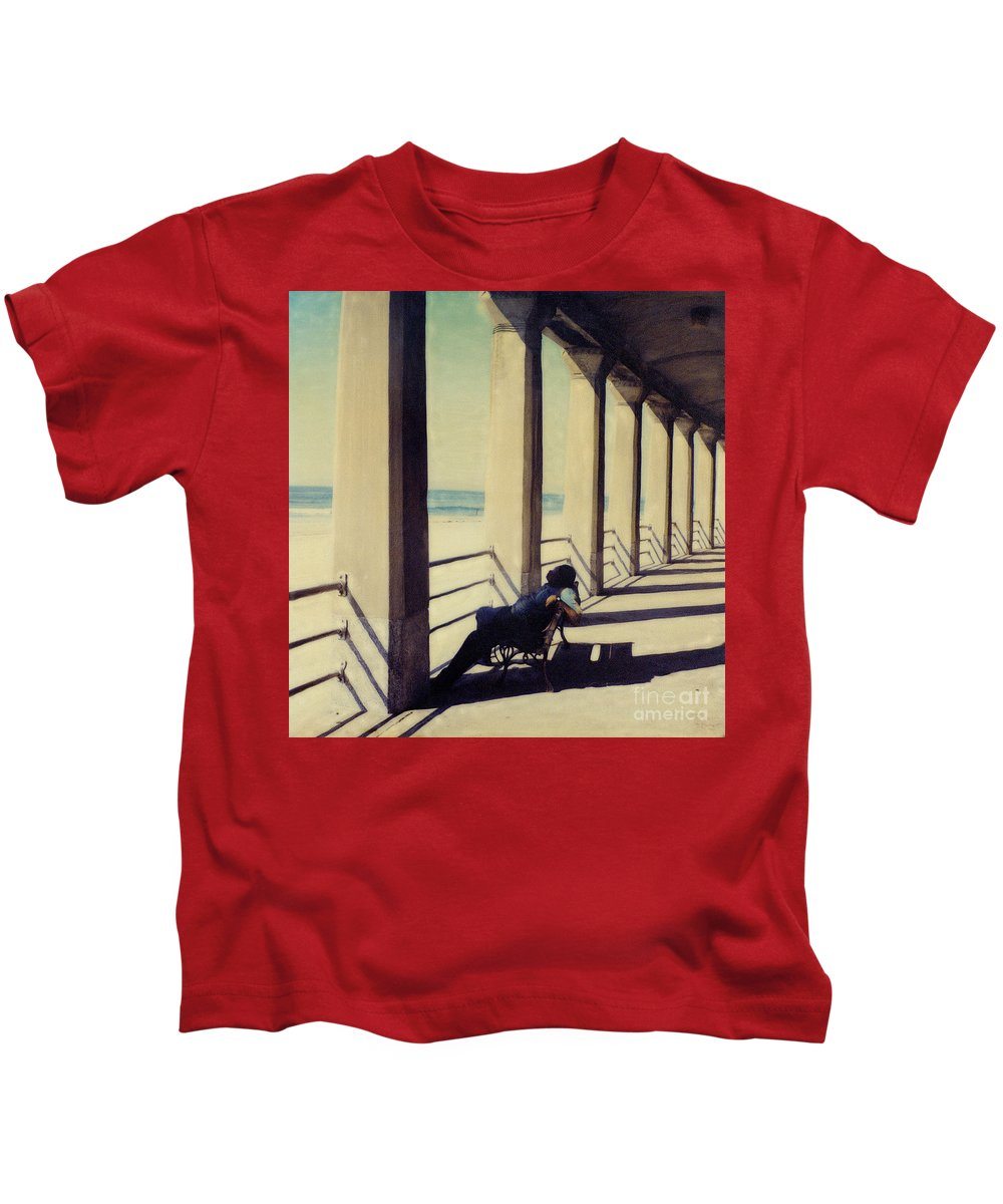 Seashore Kids T-Shirt featuring the photograph The Nap by Keith Dillon