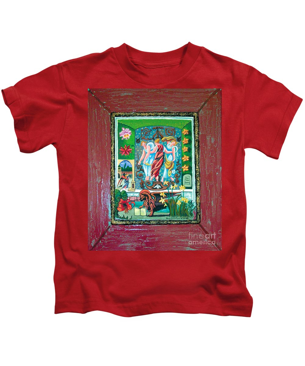 Women Kids T-Shirt featuring the painting The Three Sisters by Genevieve Esson