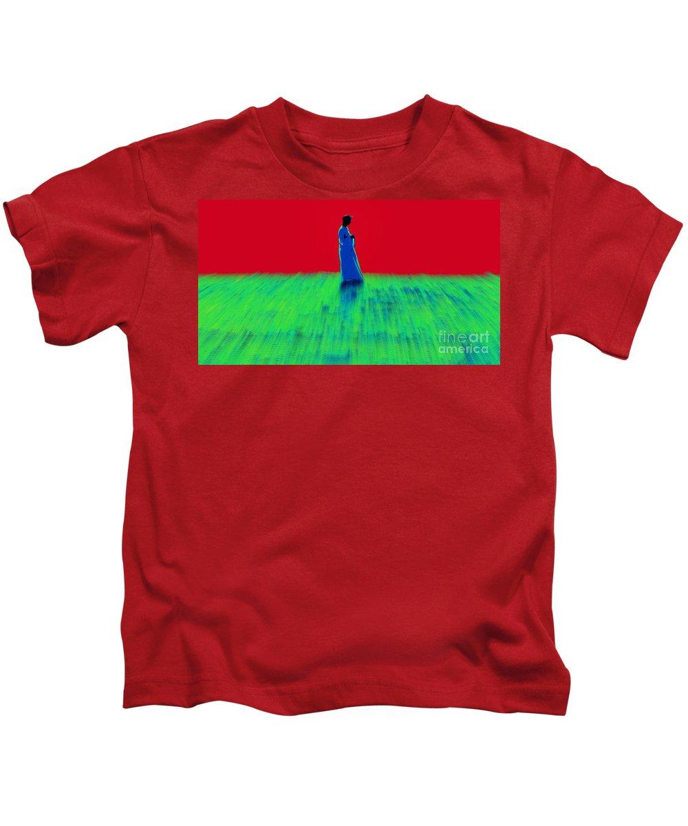 Arabian Guy Kids T-Shirt featuring the digital art Thinking Man by Bruce Thompson