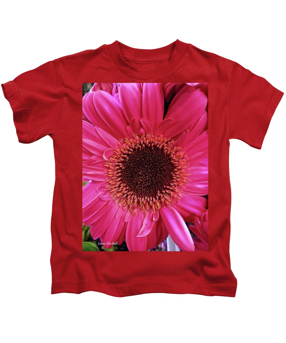 Flower Kids T-Shirt featuring the photograph Tickled Pink by Donna Blackhall