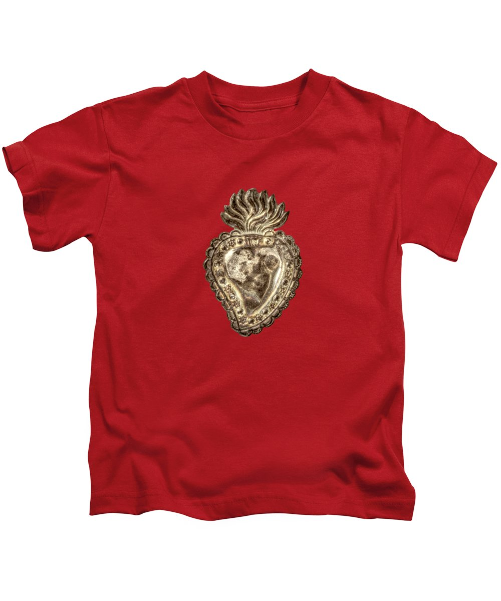 Heart Kids T-Shirt featuring the photograph Tin Heart by YoPedro