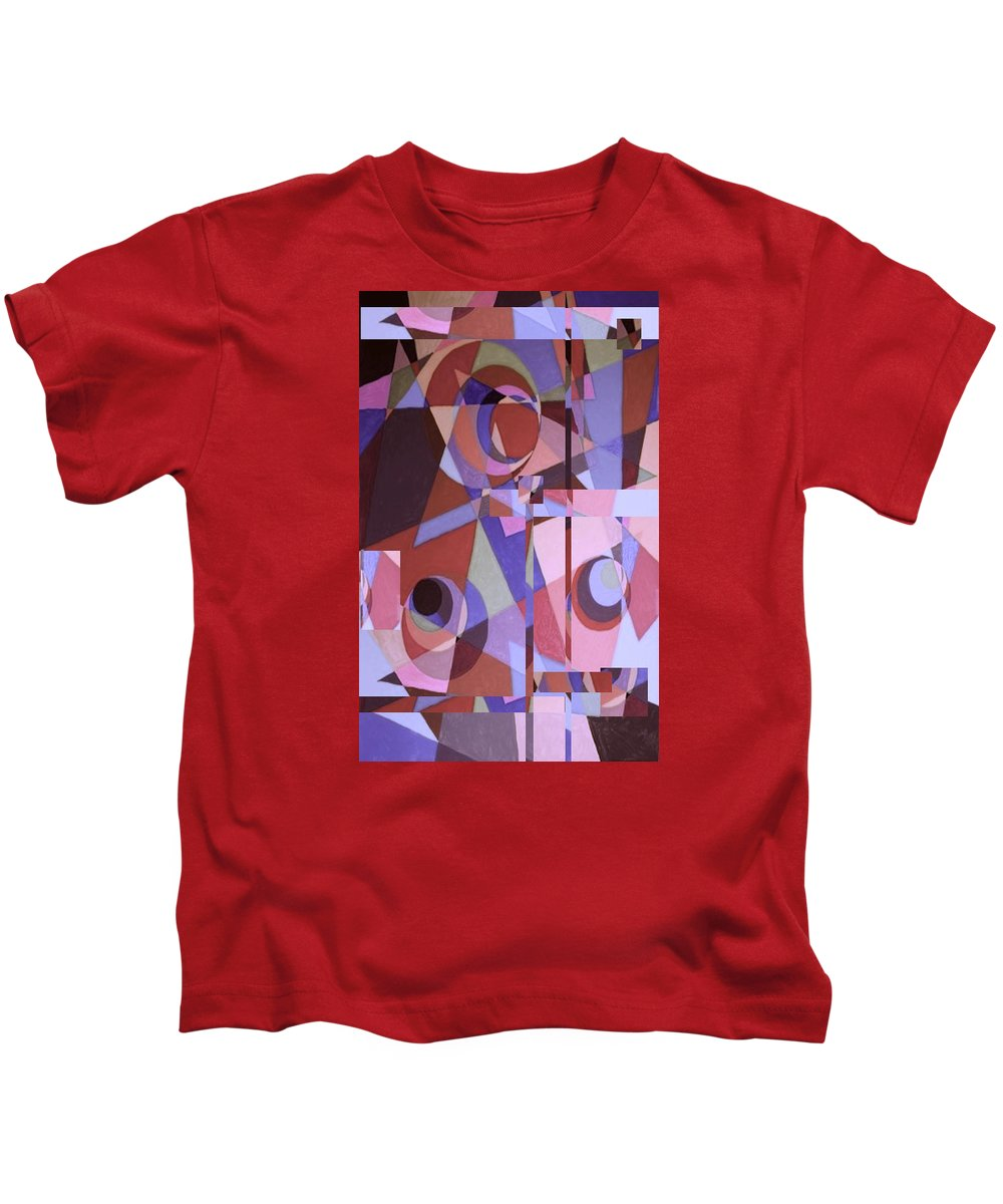 Abstract Kids T-Shirt featuring the digital art Topsy Turvy II by Paul Larson