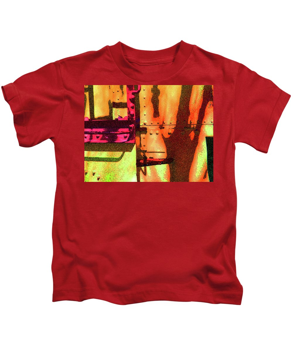 Abstract Kids T-Shirt featuring the photograph Train Abstract Variation by Lenore Senior