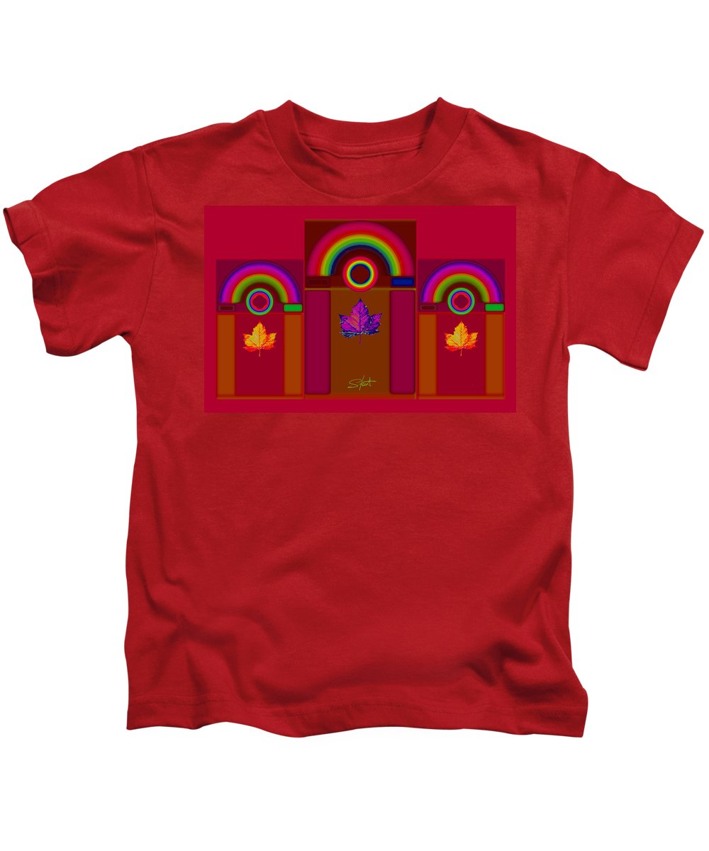 Classical Kids T-Shirt featuring the digital art Tuscan Fall by Charles Stuart