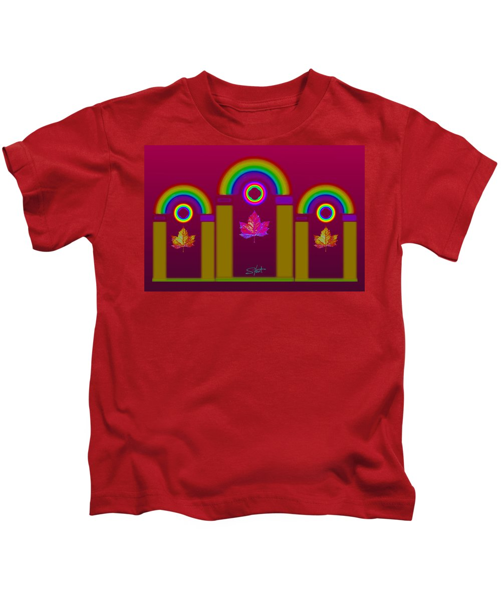 Classical Kids T-Shirt featuring the painting Tuscan Magenta by Charles Stuart