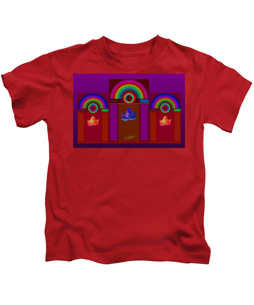 Classical Kids T-Shirt featuring the digital art Tuscan Pink by Charles Stuart