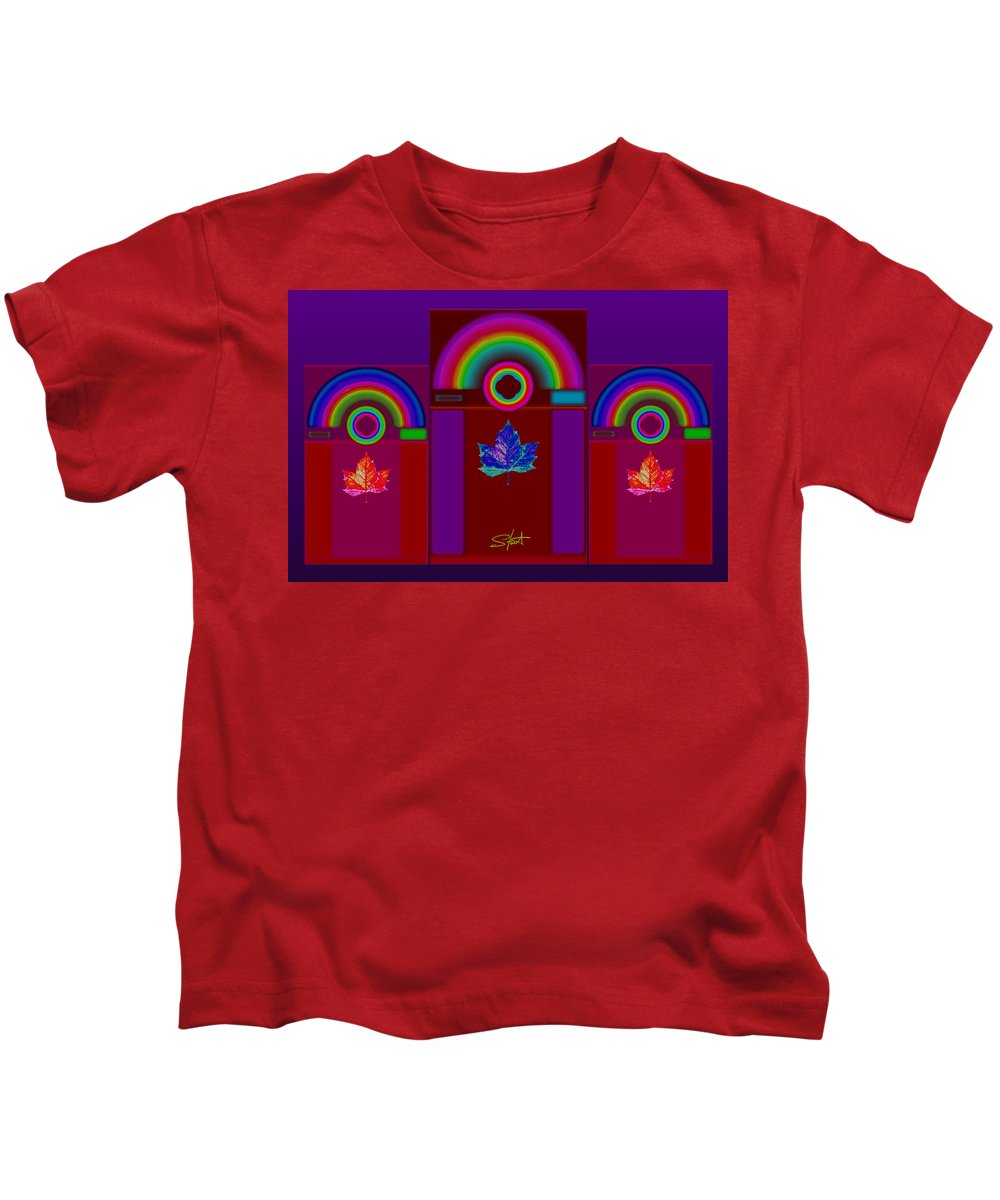 Classical Kids T-Shirt featuring the digital art Tuscan Storm by Charles Stuart