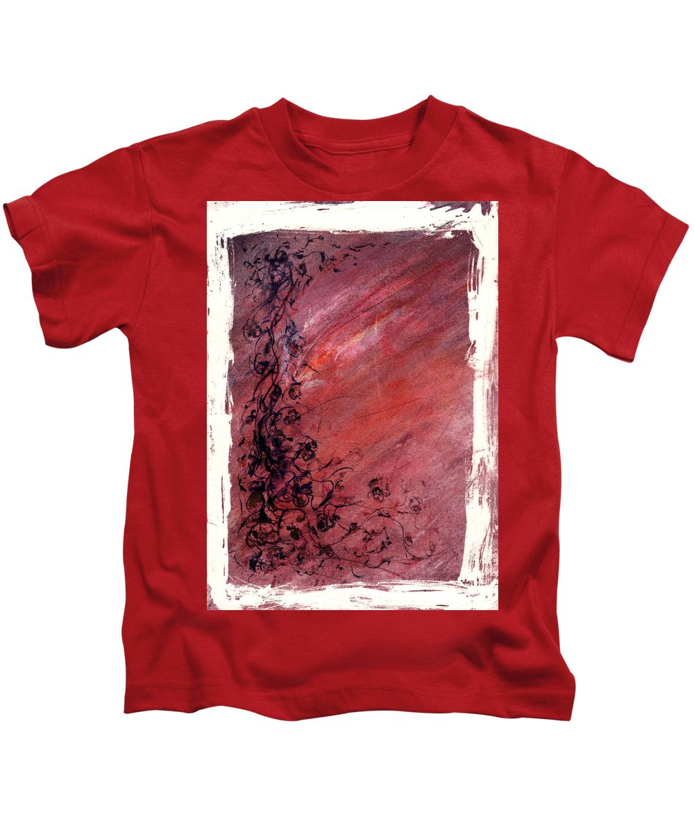 Floral Kids T-Shirt featuring the painting Twilight Rose by Rachel Christine Nowicki