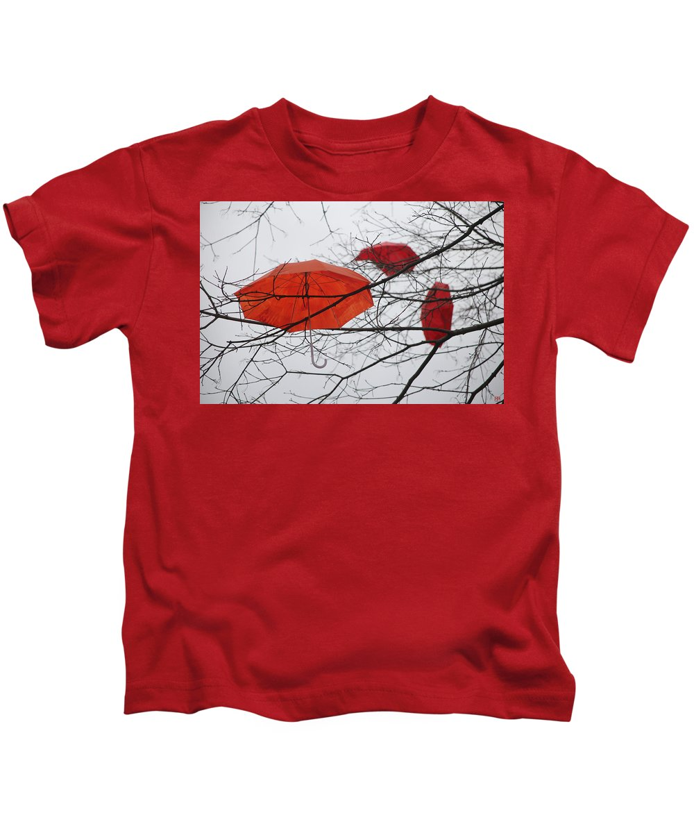 Umbrella Kids T-Shirt featuring the photograph Umbrella Tree Number 3 by John Meader