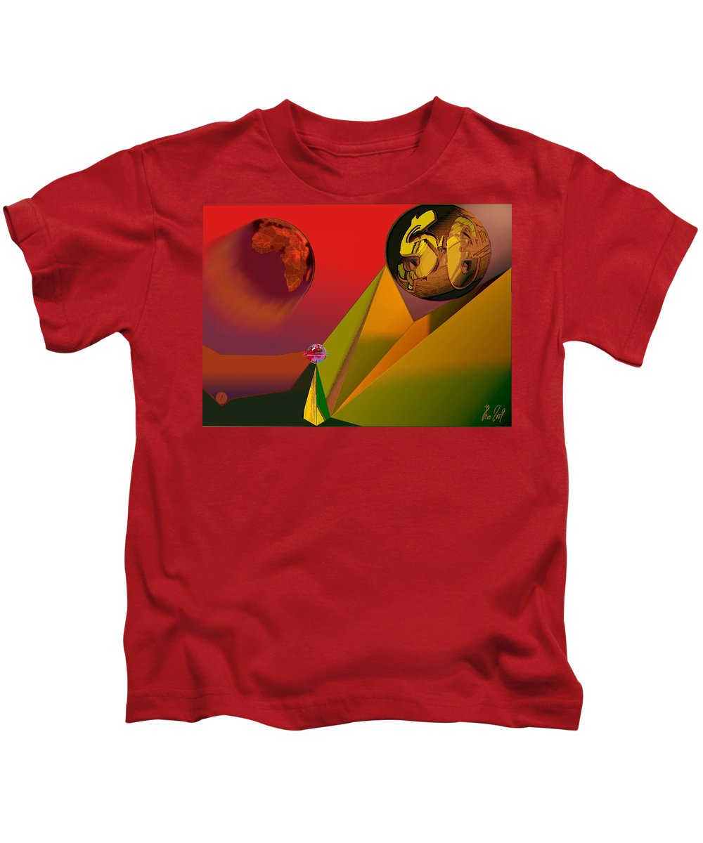 Earth Kids T-Shirt featuring the digital art Unbalanced-the Source Of Violence by Helmut Rottler