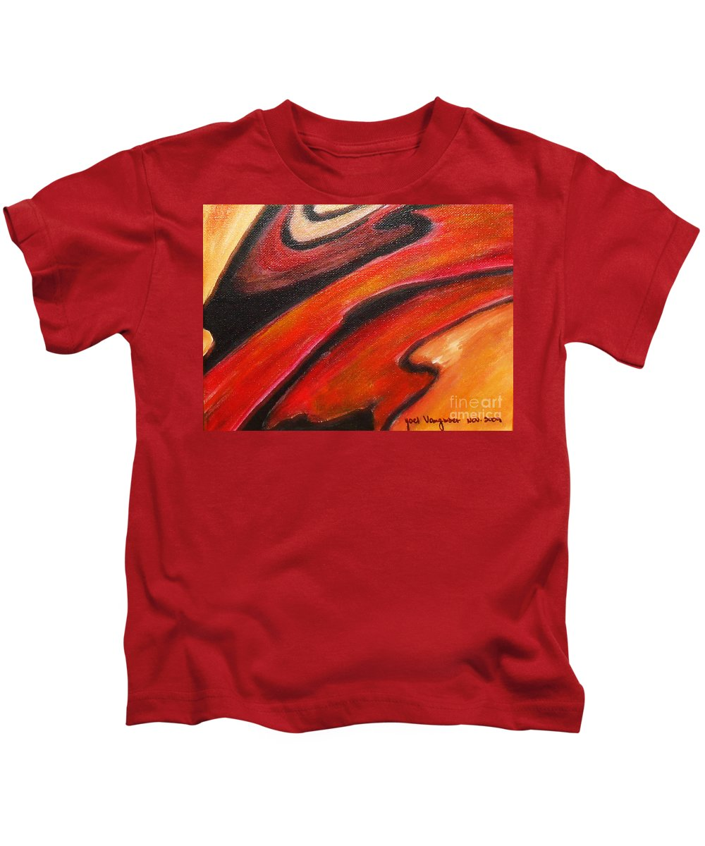 Abstract Kids T-Shirt featuring the painting Uncertainity by Yael VanGruber
