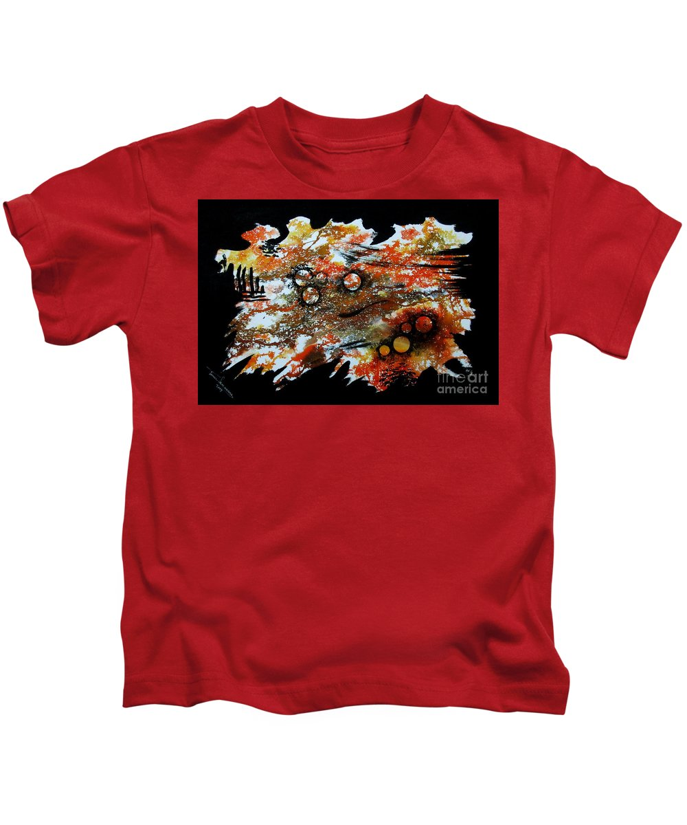 Art Kids T-Shirt featuring the painting Untitled-85 by Tamal Sen Sharma